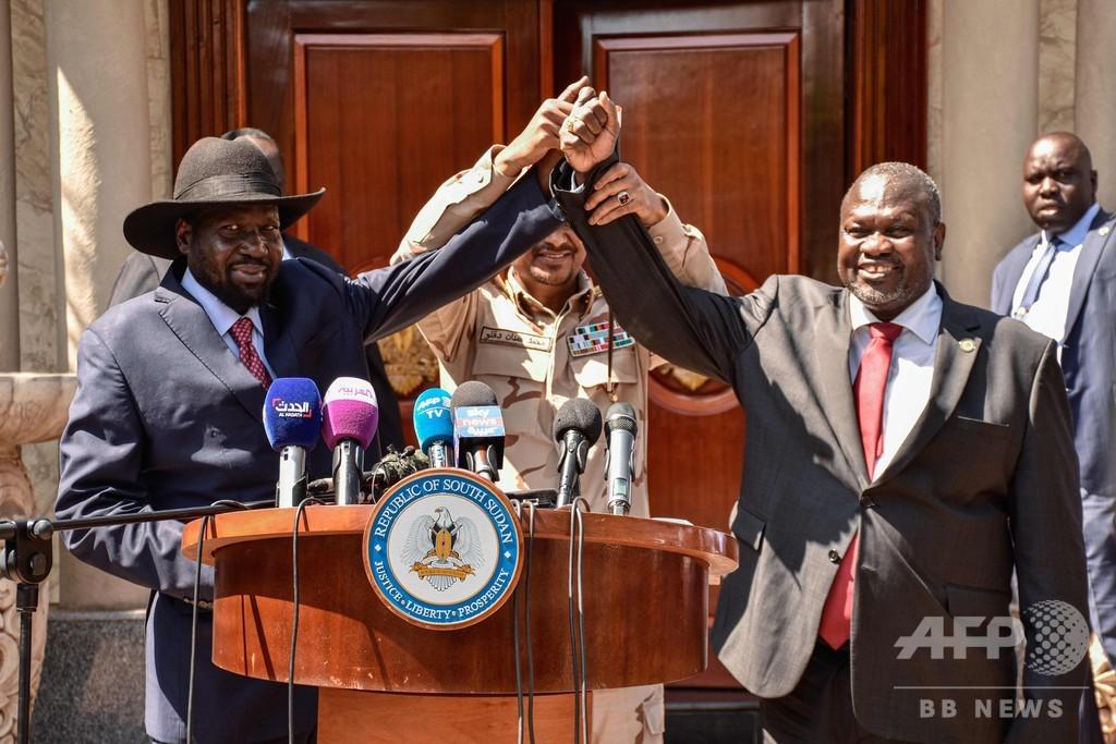 南スーダン大統領、副大統領に長年の政敵を任命