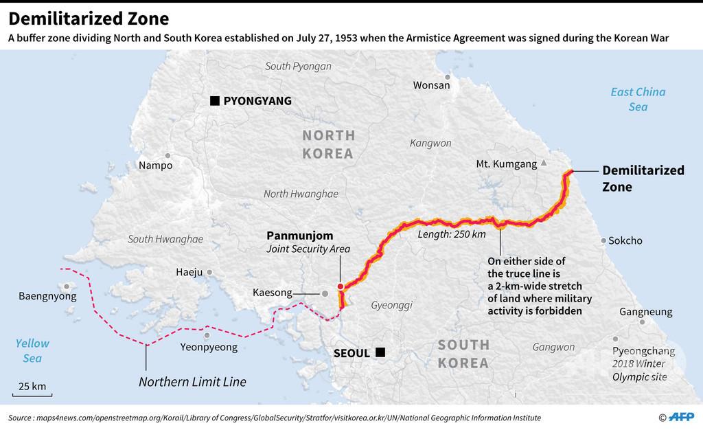南北隔てる非武装地帯、北朝鮮側からの観光客には閉鎖 北朝鮮専門旅行会社