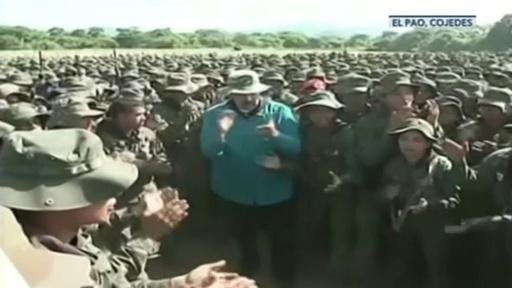 動画:ベネズエラ大統領、「米国の軍事介入に備えよ」 兵士らに指示