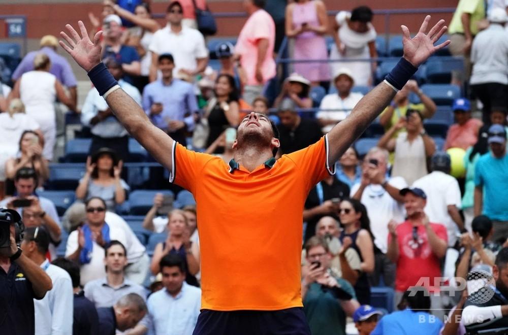 デルポトロ4強、「キャリア最高のテニス」で地元米国勢の夢破る