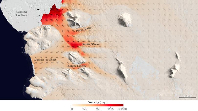 南極の氷河、予想以上に急速に減少