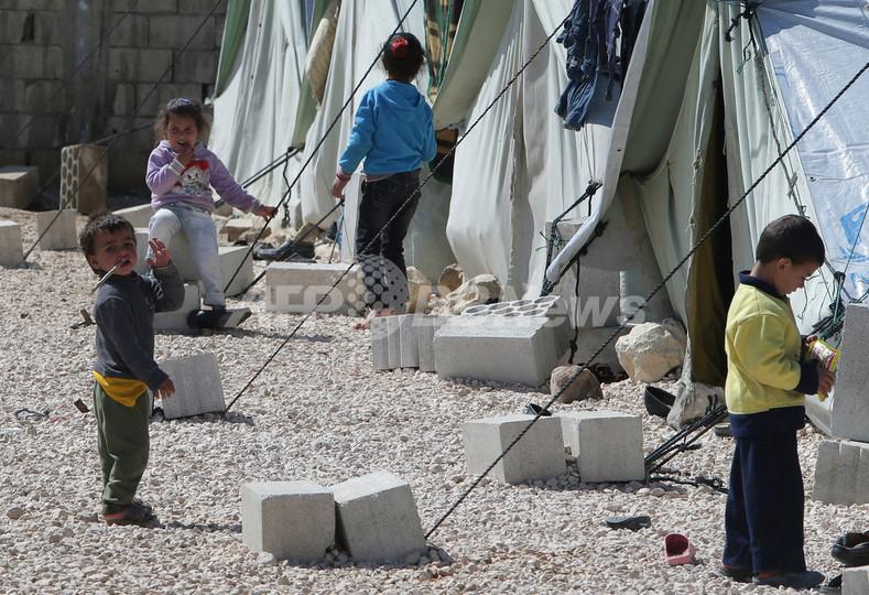 シリア難民、100万人に達する 国連発表