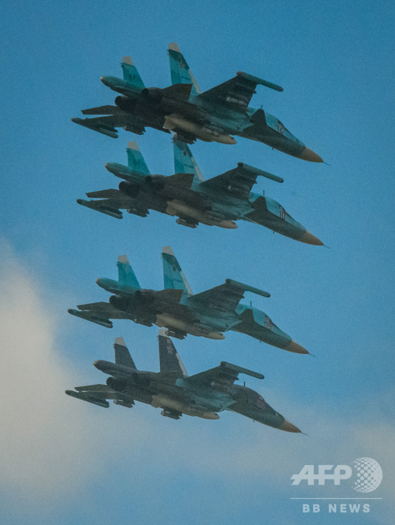 ロシア戦闘機2機、日本海上空で衝突 1人死亡