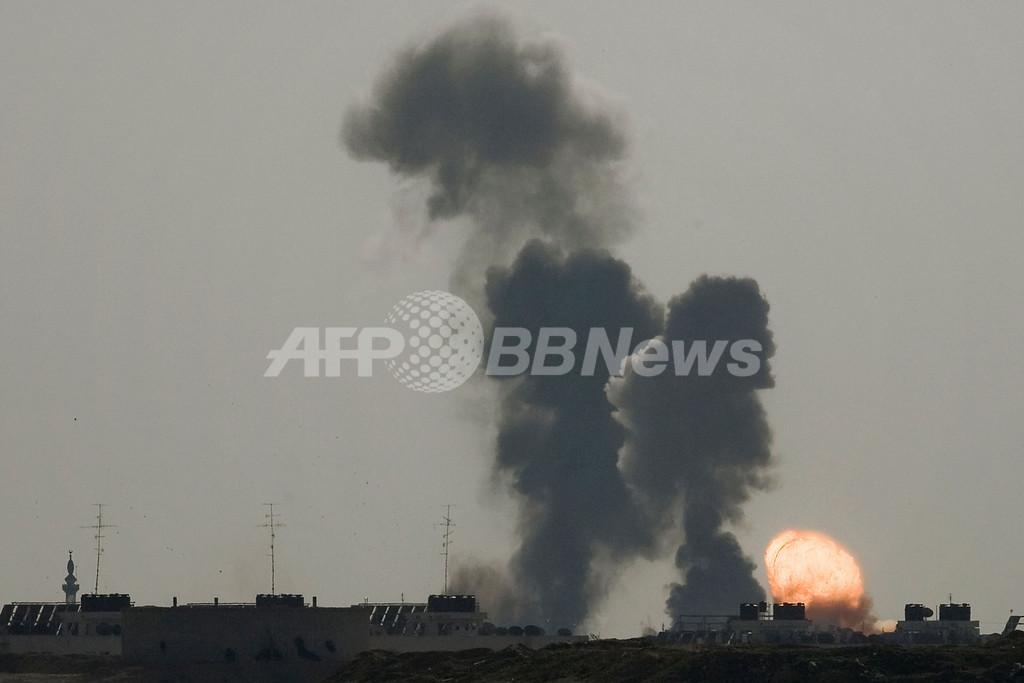 ガザ地区の大規模空爆、死者228人・負傷者700人