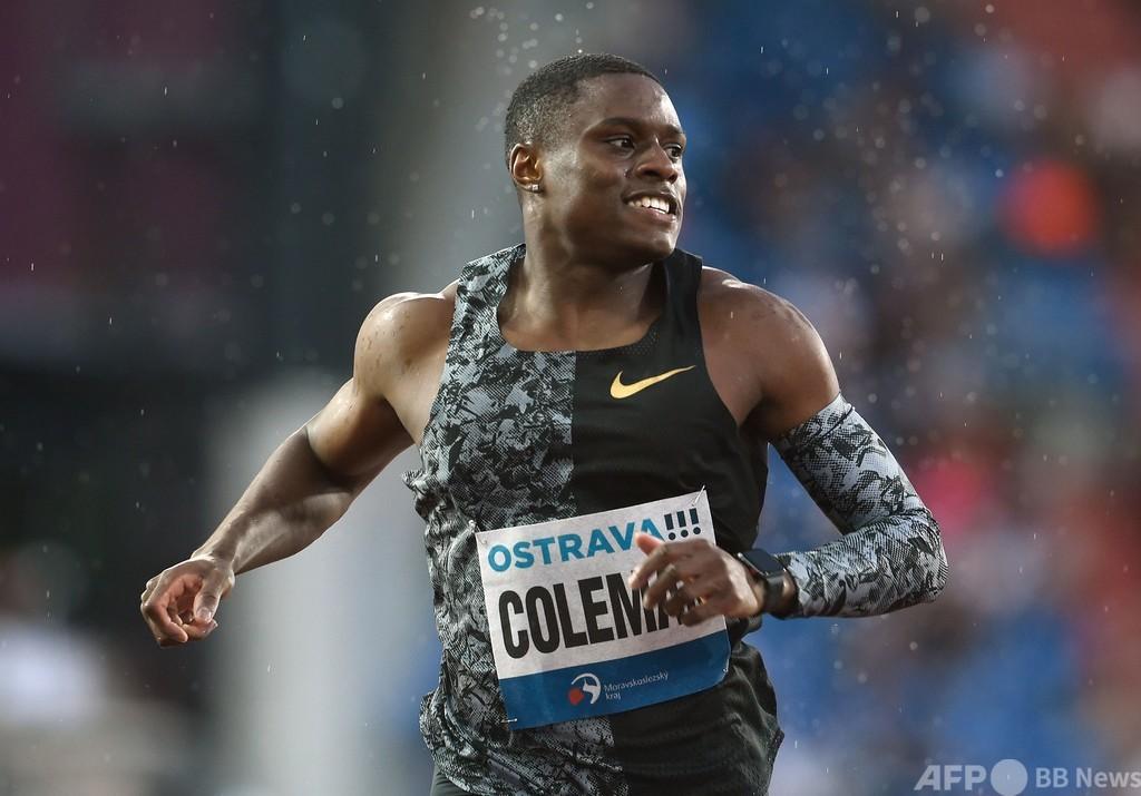 100m世界王者コールマン、2年の出場停止 東京五輪欠場へ
