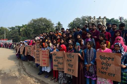 名門大の女子学生が性的暴行被害、学生らが大規模抗議 バングラ