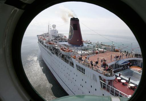 ラトビアでバハマ船籍の客船が座礁