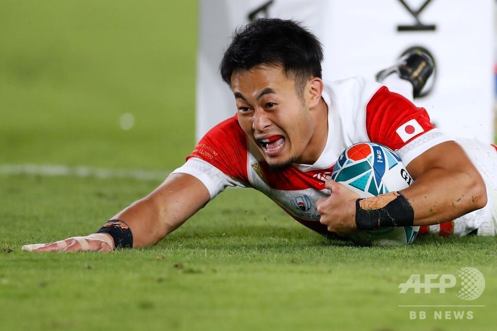 【写真特集】日本がラグビーW杯初の8強、スコットランドに競り勝つ