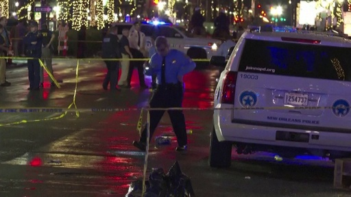 動画:米ニューオーリンズで銃撃事件、10人負傷 事件現場の映像