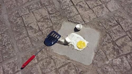 地面で目玉焼き完成!アルゼンチンで体感温度57度を記録