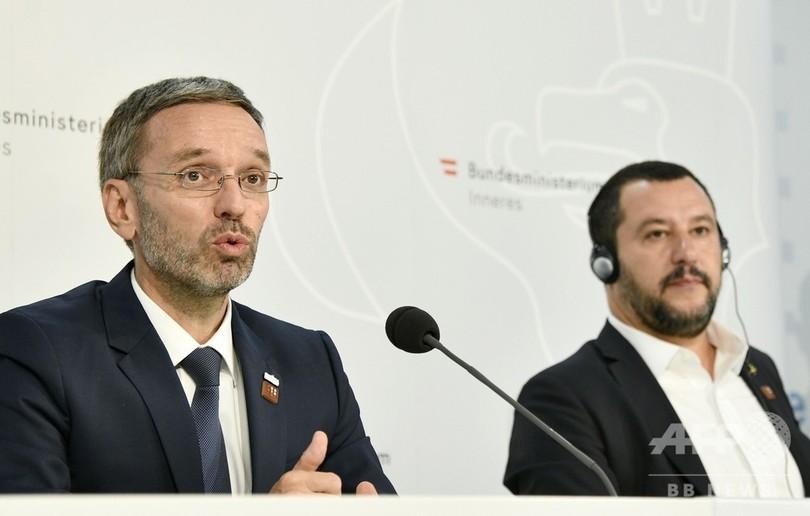 欧州目指す移民の手続きは船上で、オーストリア極右の内相が提案