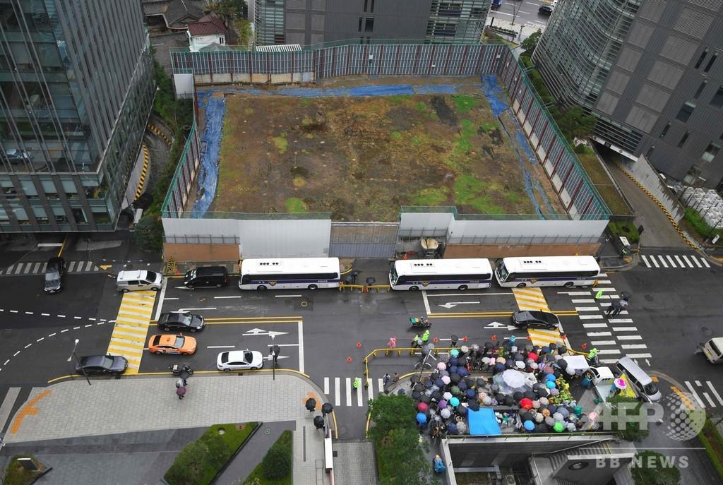 在韓日本大使館の建築許可取り消し、ソウル市当局