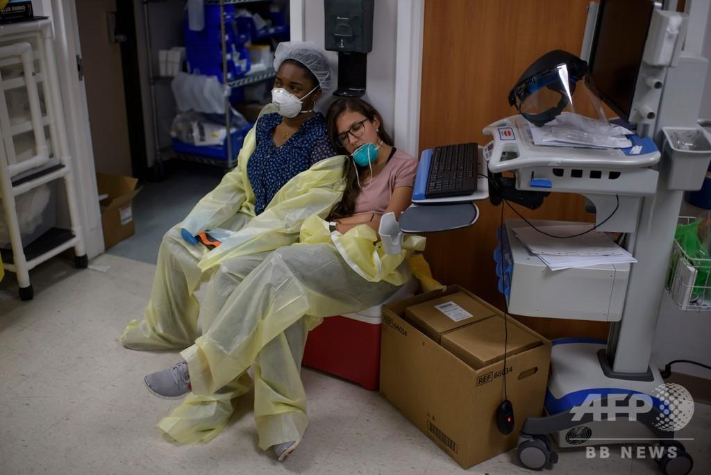 米テキサス州で医療制度崩壊の危機、コロナ感染者急増で
