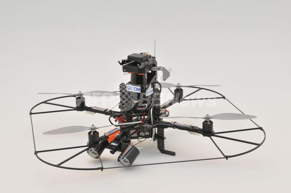 空飛ぶ防犯ロボ、セコムが開発