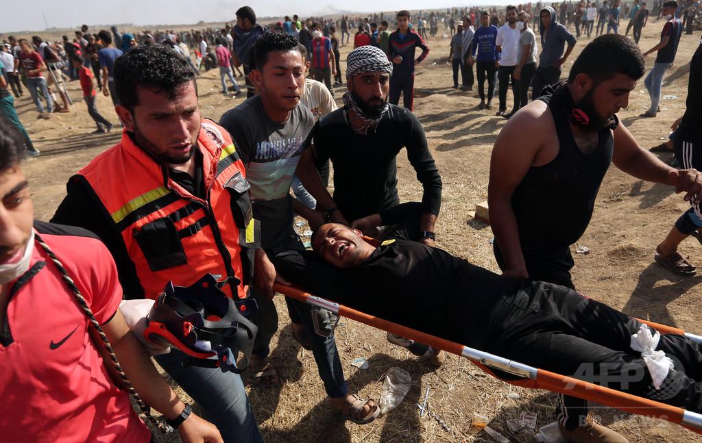 イスラエル兵に撃たれパレスチナ人1人死亡 デモ7週目