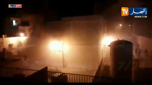動画:病院の産科病棟で火災、新生児8人死亡 アルジェリア 現場の映像