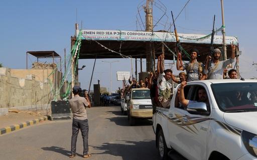 イエメン反体制派、ホデイダ港から撤退開始 政府側は疑念