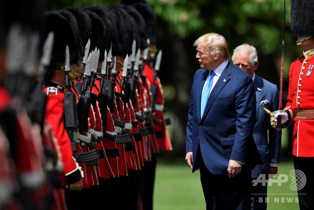 訪英のトランプ氏、きょうメイ首相と会談 ブレグジット後の貿易協定締結に意欲も