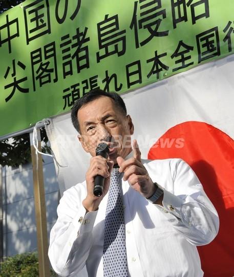 元空幕長らの団体が代々木で集会、中国対応で民主党政権を批判