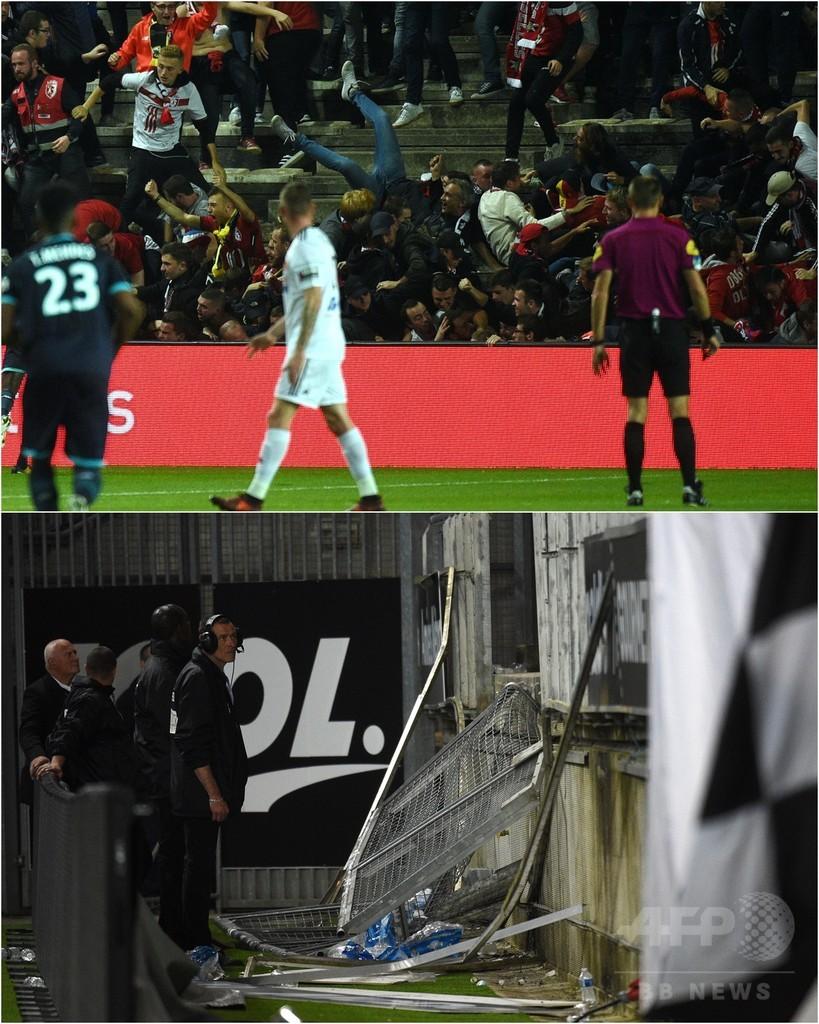 柵が壊れて落下したファンが29人負傷、昇格組の仏スタジアムで