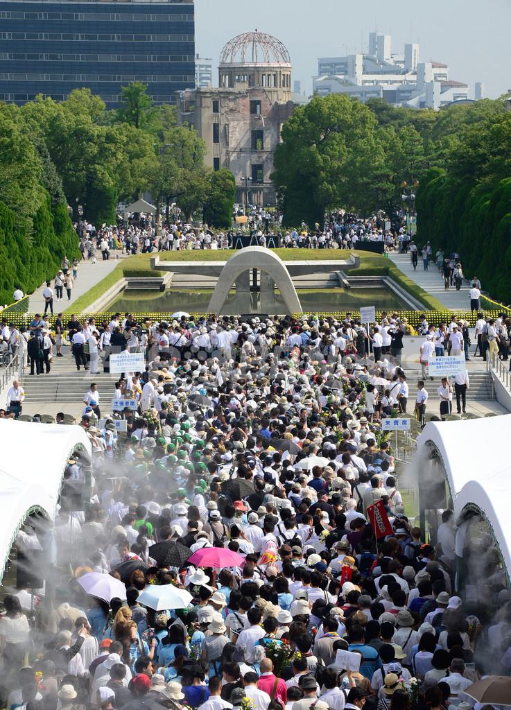 原爆投下から68年、広島で平和記念式典