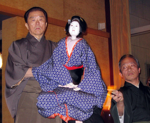 吉田簑助、フランス大使館で国宝の技を披露 - 東京