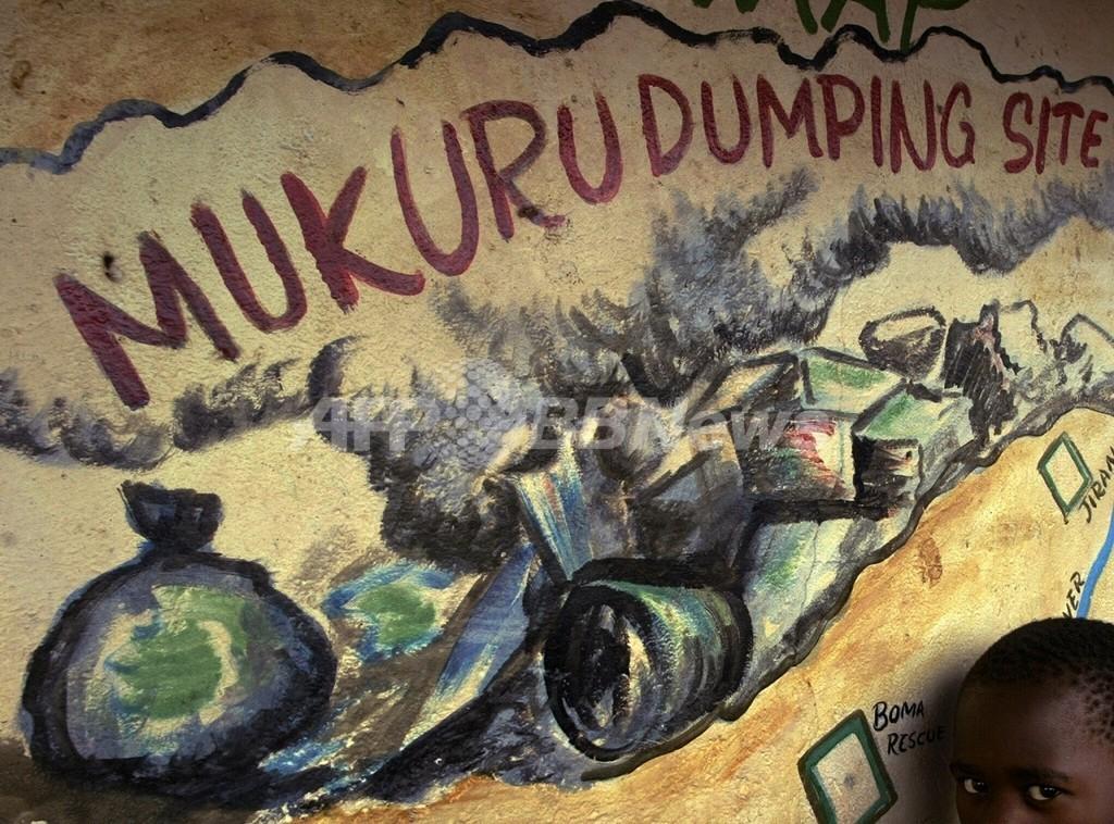 大量のゴミ投棄、解決策「官民パートナーシップ」を提唱 ケニア