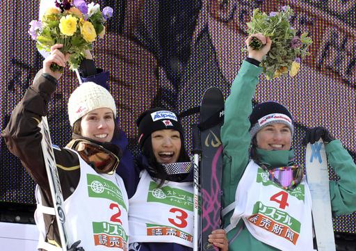 上村愛子 女子モーグルで初優勝、フリースタイルスキー世界選手権