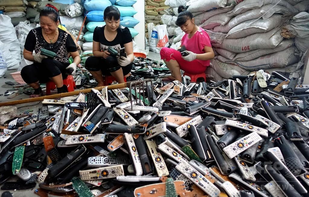 中国「リサイクル産業の都」が払う電子ごみ処理の代償