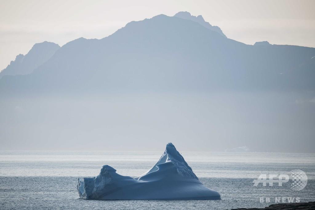 グリーンランドの氷消失、予想より速く進行 研究