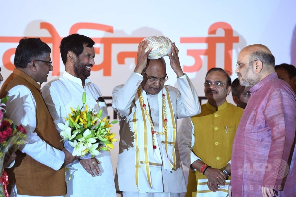 インド大統領選、最下層カースト出身のコビンド氏が当選