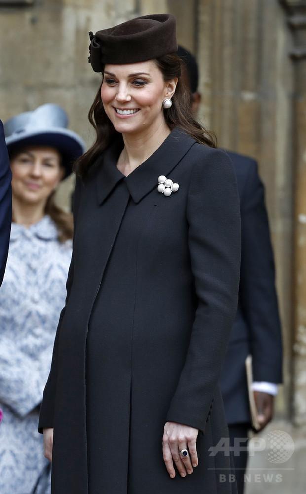 第3子妊娠中の英キャサリン妃が入院、陣痛の初期段階