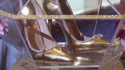 動画:世界最高額の高級靴展示、19億円 ダイヤ236個使用 ドバイ