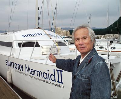海洋冒険家の堀江謙一さん、「波浪推進船」での太平洋単独航海に世界初挑戦
