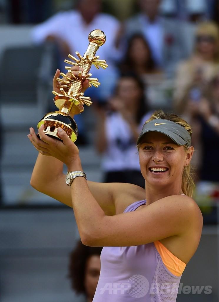 シャラポワがハレプを撃破、2週連続優勝 マドリード・オープン