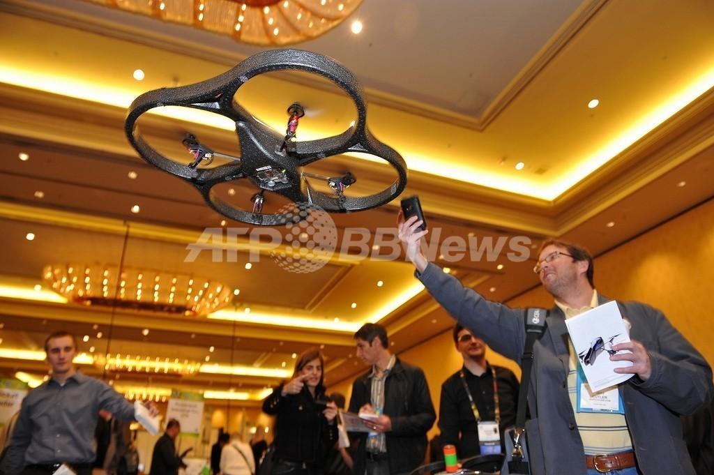 iPhoneで操縦する小型ヘリが登場、米家電見本市CES