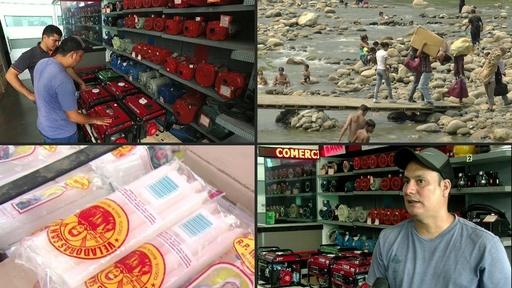 動画:国境越えて発電機の買い物、ベネズエラの停電対策に