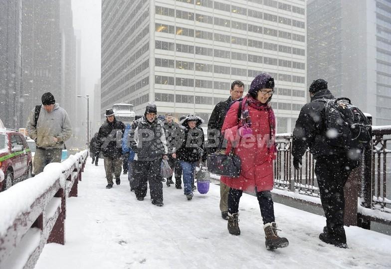 米北部、悪天候で約2600便が欠航