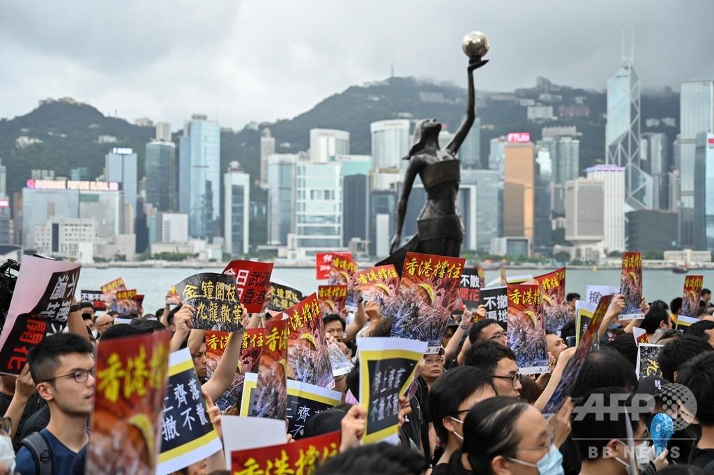 香港デモに参加する中国本土出身者たち、「目に見えることに力がある」