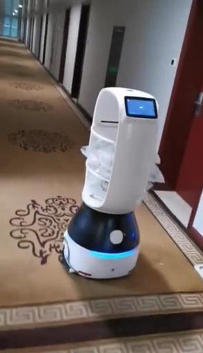 動画:中国・杭州市の隔離施設が配膳ロボット導入