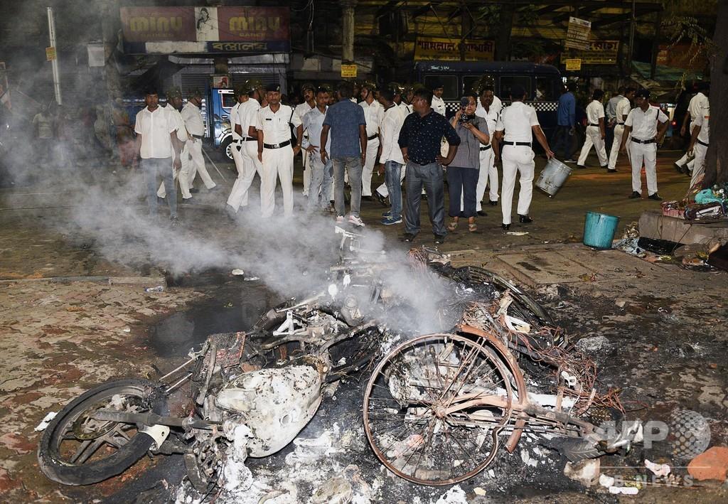 印コルカタ、与野党支持者の衝突で選挙活動終了前倒し
