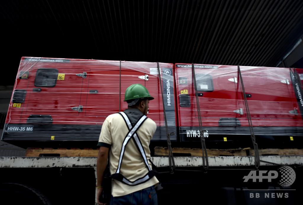 赤十字の支援物資第2弾、ベネズエラに到着 医療用品や発電機も