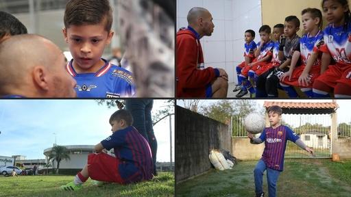 動画:ブラジルの「リオネル・メッシ」、夢は同姓同名のヒーローに会うこと