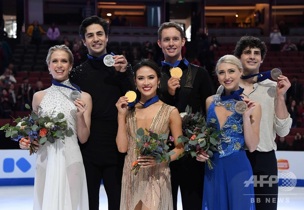 チョーク/ベイツ組がアイスダンス制す、四大陸選手権で初優勝