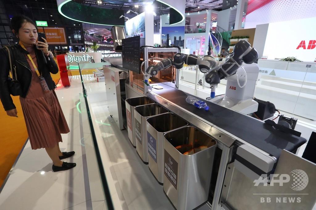 人工知能でごみを分別するロボットが輸入博に登場 中国・上海