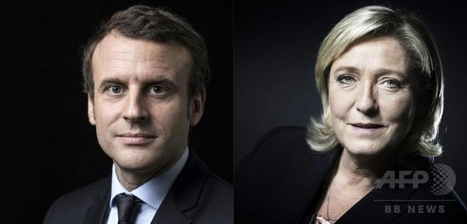 仏大統領選、決選投票はマクロン氏圧勝の見通し 最新調査