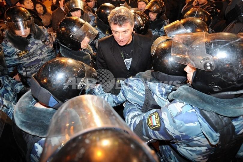 ロシア、与党の選挙不正訴える大規模集会 逮捕者数百人