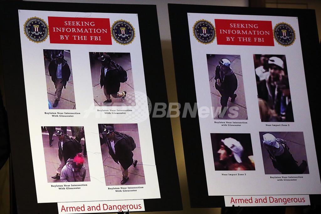 ボストン爆発、FBIが容疑者2人の写真・映像公開