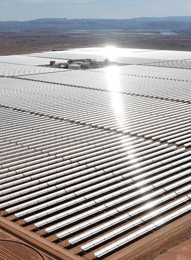 モロッコ、初の太陽光発電所が操業開始