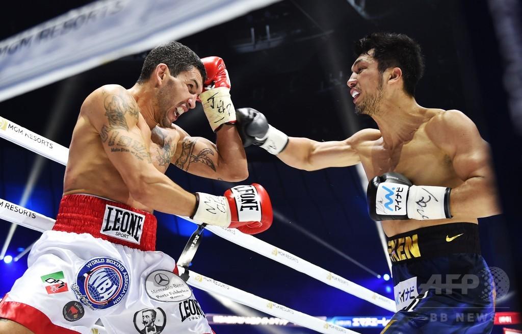 村田、8回TKO勝利でWBAミドル級王座初防衛に成功